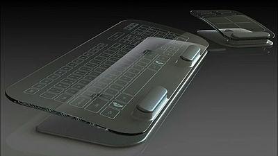 ガラス製キーボード・マウス